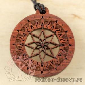 Оберег Алатырь-щит в Солнечном круге из Падука