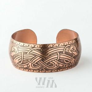 Кельтский браслет из латуни