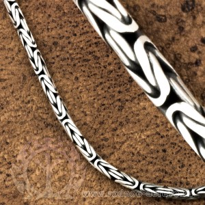 Византийская цепь из серебра малая