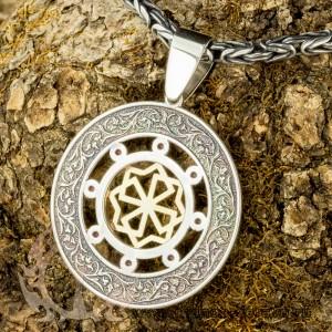 Молвинец из золота и серебра с камнями