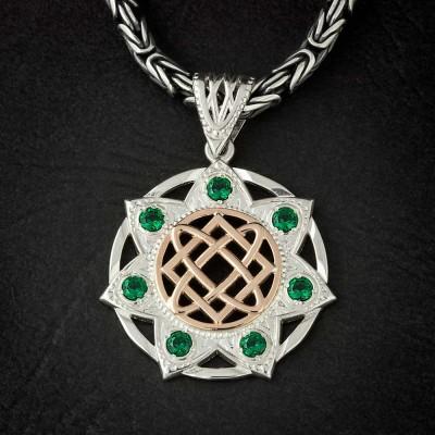 Звезда Лады-богородицы из серебра и золота